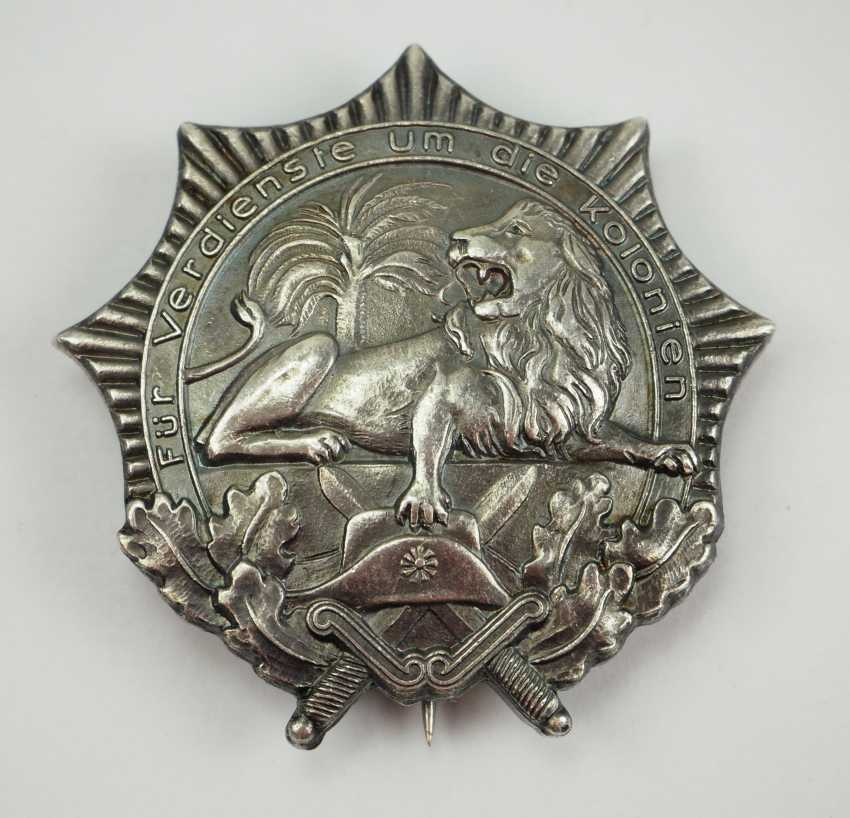 German Empire: colonial award (the so-called lion of the North), 1. Class. - photo 1