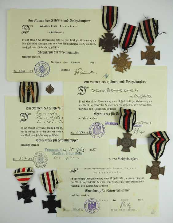 German Empire: collection of Hindenburg crosses with documents. - photo 1