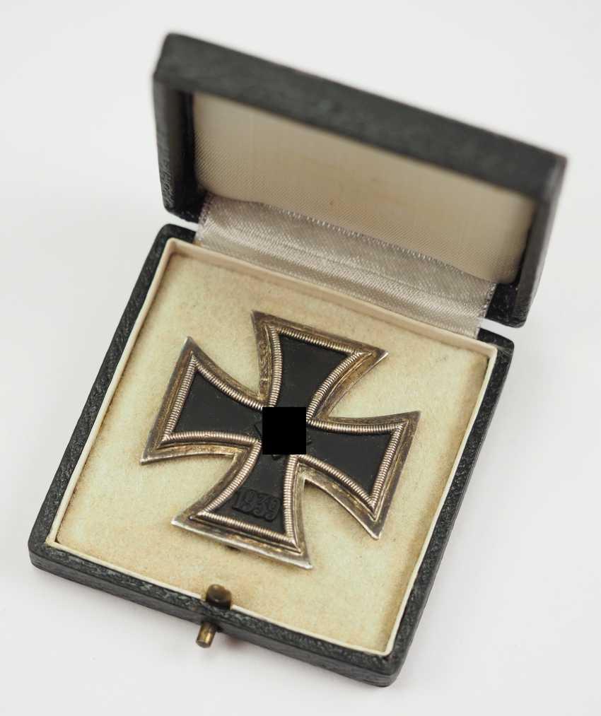 Iron Cross, 1939, 1. Class, in a case - Wiedmann. - photo 1