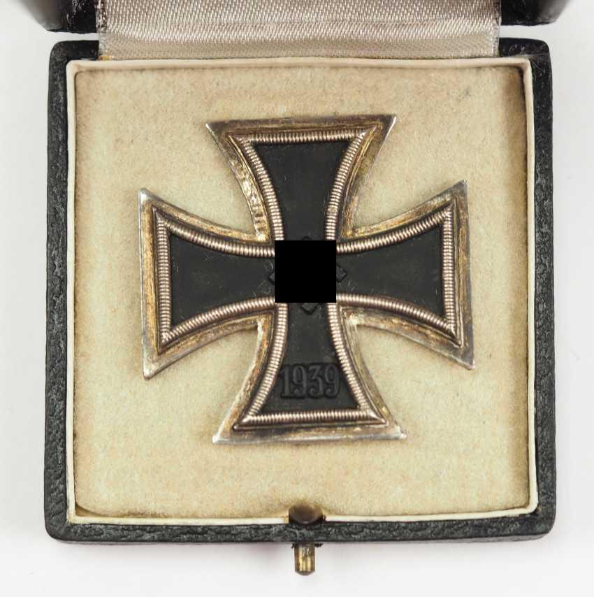Iron Cross, 1939, 1. Class, in a case - Wiedmann. - photo 2