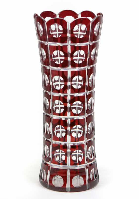 Crystal Overlay Vase  - photo 1