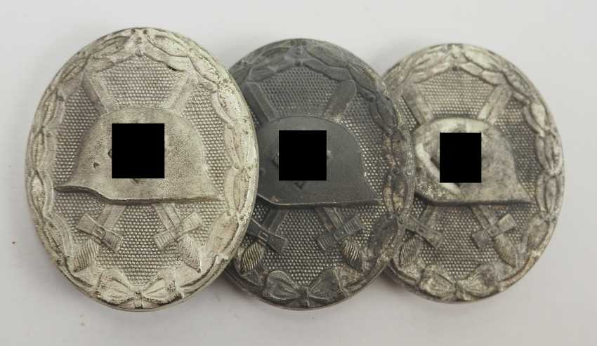 Wounded Badge, 1939, Silver - 3 Copies, 107. - photo 1