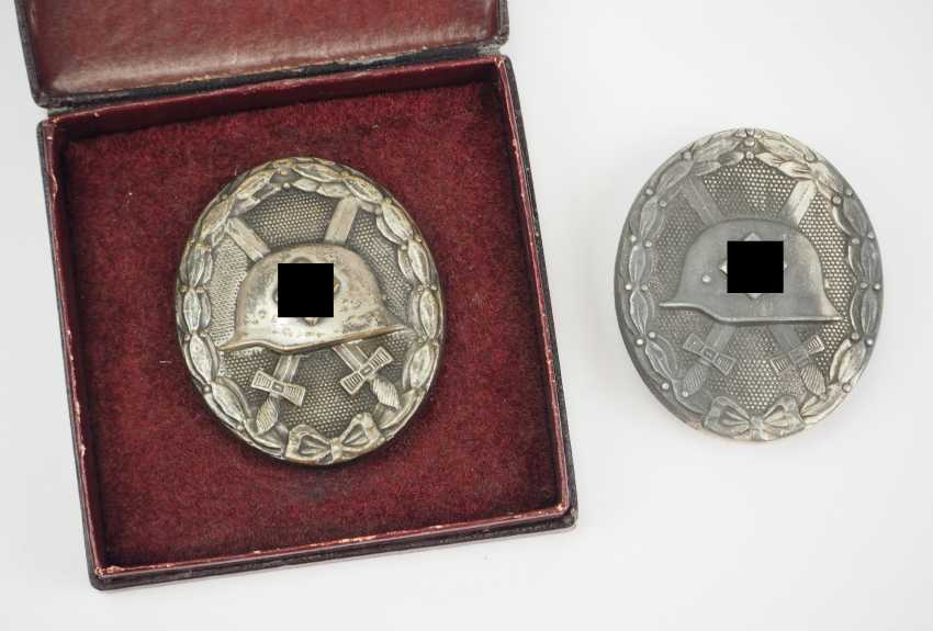 Wounded Badge, 1939, Silver - 2 Copies. - photo 1