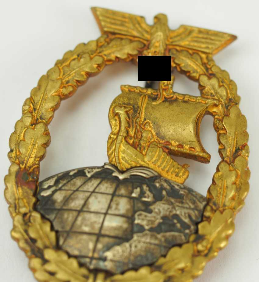 Auxiliary Cruiser War Badge - Junker. - photo 2