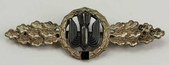 Front flying clasp for combat and fighter pilot, in silver. - photo 1