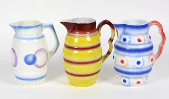 3 Art Deco cocoa jugs, 1930s - photo 1