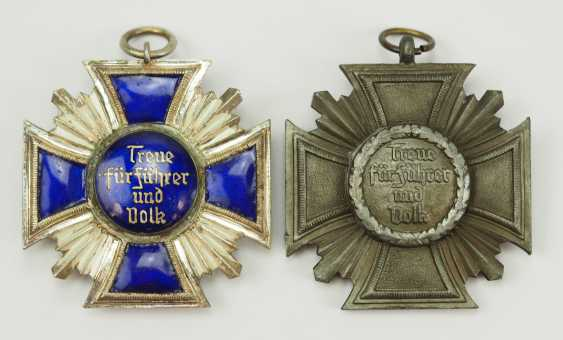 NSDAP: long service decoration, in silver and Bronze. - photo 2