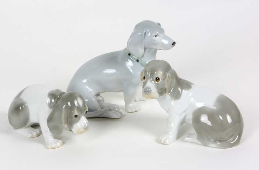 3 Hundefiguren - photo 1