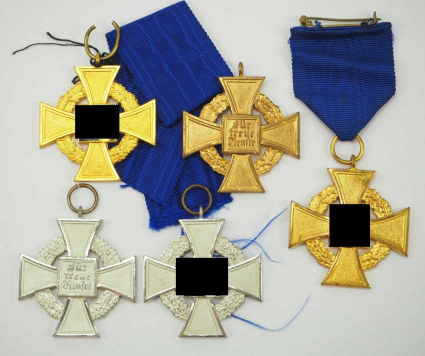 Faithful Service Decoration, 1. and 2. Level - 5 Copies. - photo 1
