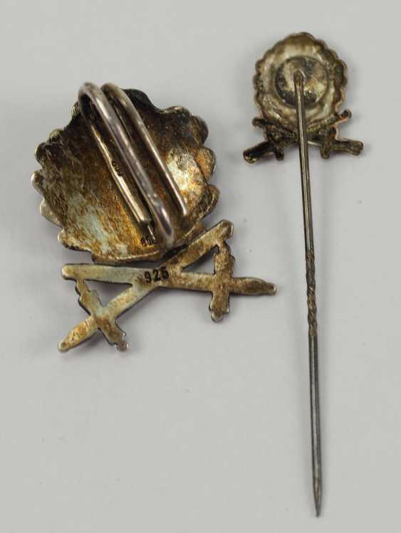 In 1957 oak leaves and swords to the knight's cross of the Iron cross, with miniature. - photo 3
