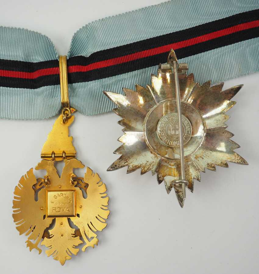 Albania: Besa-Order, 2. Model (1940-1944), Grand Officer's Set. - photo 4