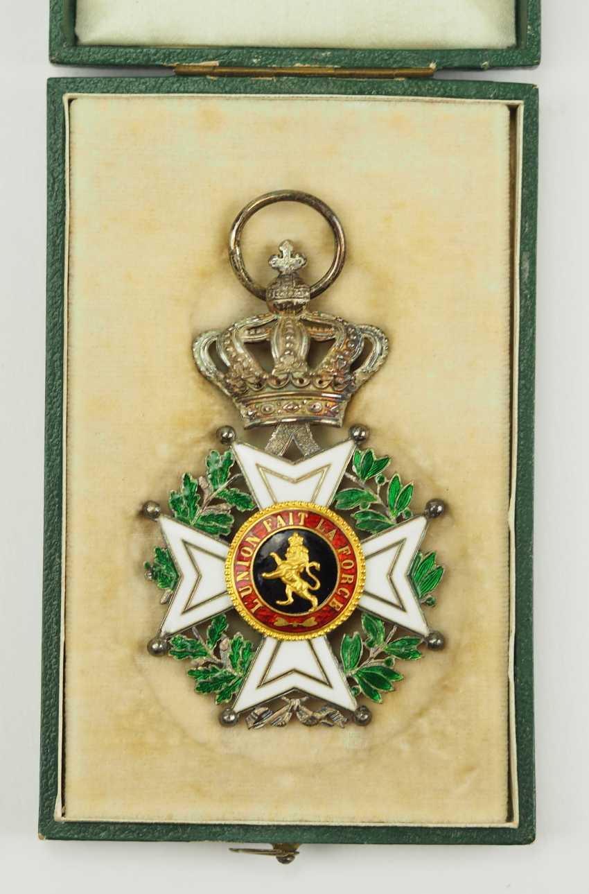 Belgium: Leopold-Order, 2. Model (1839-1951), knights cross, in case. - photo 1
