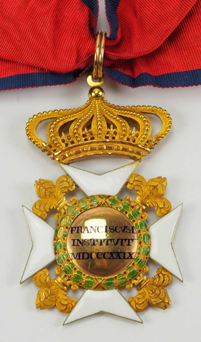 Kingdom Of The Two Sicily: Order Of Francis I, Commander's Cross. - photo 3