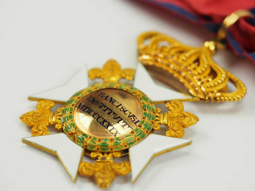 Kingdom Of The Two Sicily: Order Of Francis I, Commander's Cross. - photo 4
