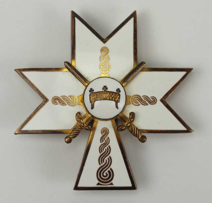 Croatia: order of the crown of king Zvonimir, officer's cross with swords. - photo 1