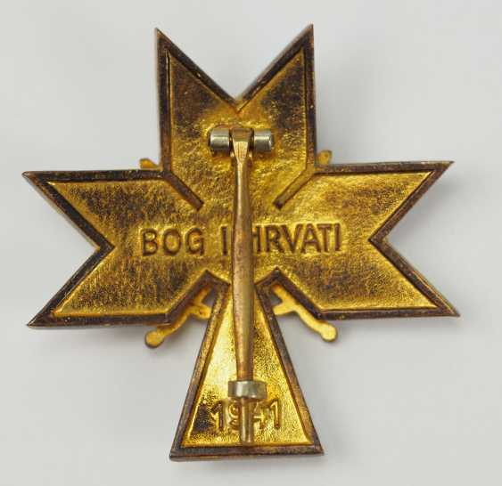 Croatia: order of the crown of king Zvonimir, officer's cross with swords. - photo 3