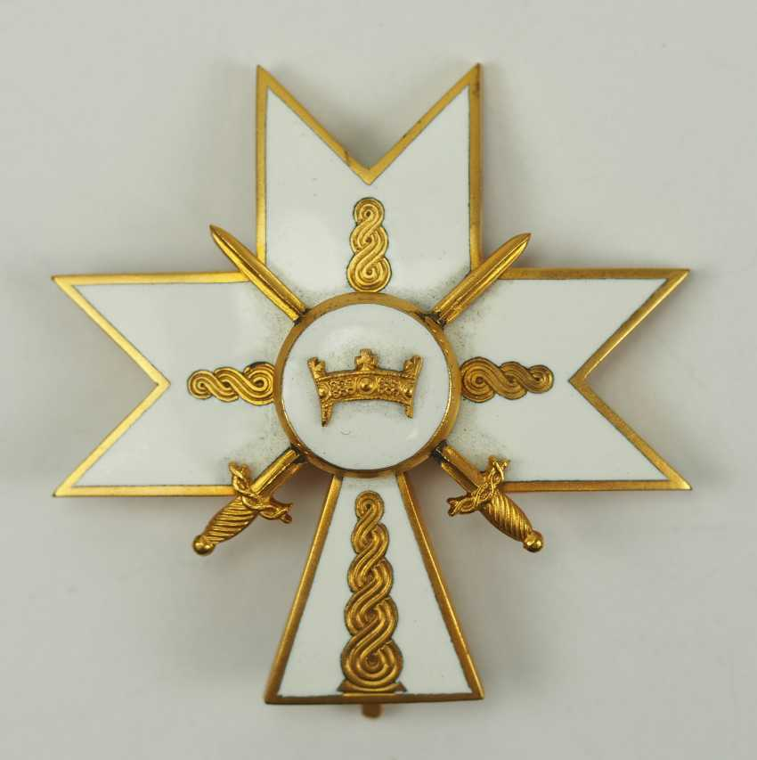 Croatia: order of the crown of king Zvonimirs, officer's cross with swords. - photo 1