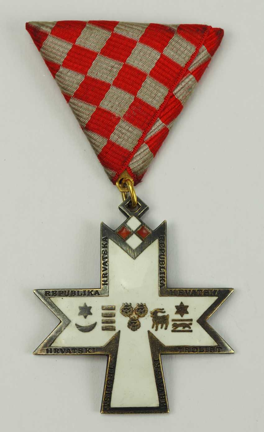 Croatia: order of the crown of king Zvonimir, 2. Model, Knight's Cross. - photo 1