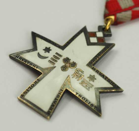 Croatia: order of the crown of king Zvonimir, 2. Model, Knight's Cross. - photo 2