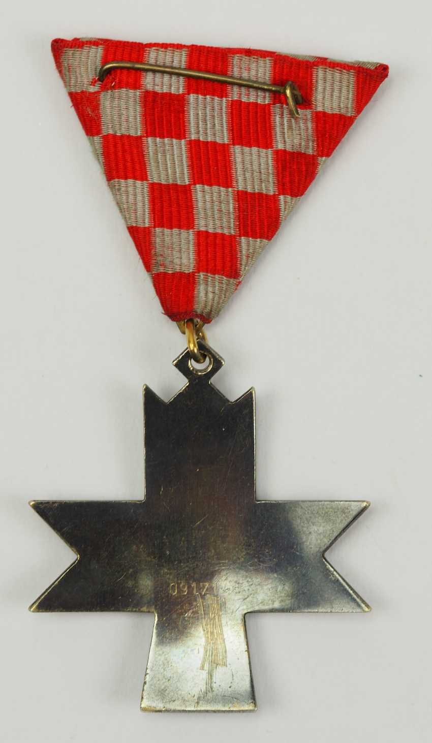 Croatia: order of the crown of king Zvonimir, 2. Model, Knight's Cross. - photo 3