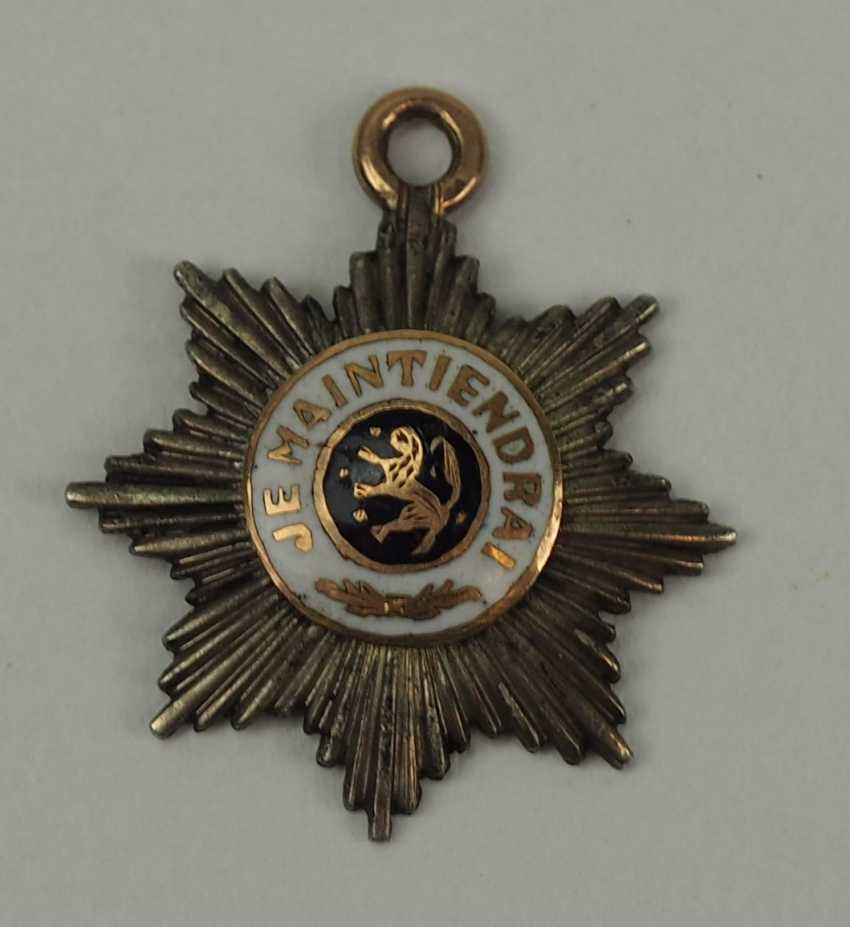 The Netherlands: house order of the Dutch lion, Grand cross breast star miniature. - photo 1