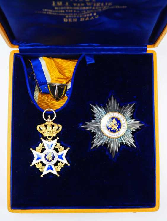 The Netherlands: Oranje-Nassau order, Grand cross set, in a case. - photo 1