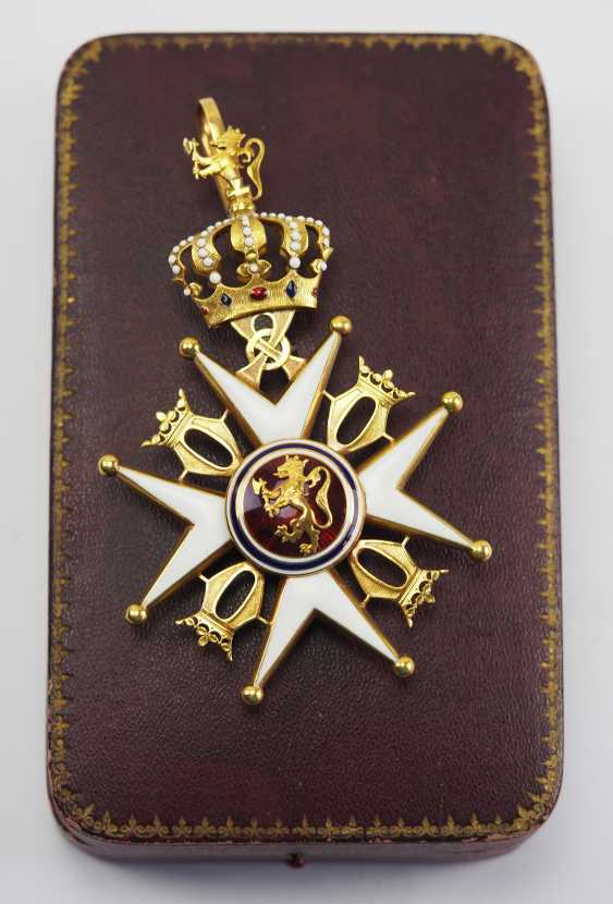 Norway: St. Olav-Order, 2. Model (1907-1937), Comtur cross, in a case. - photo 1