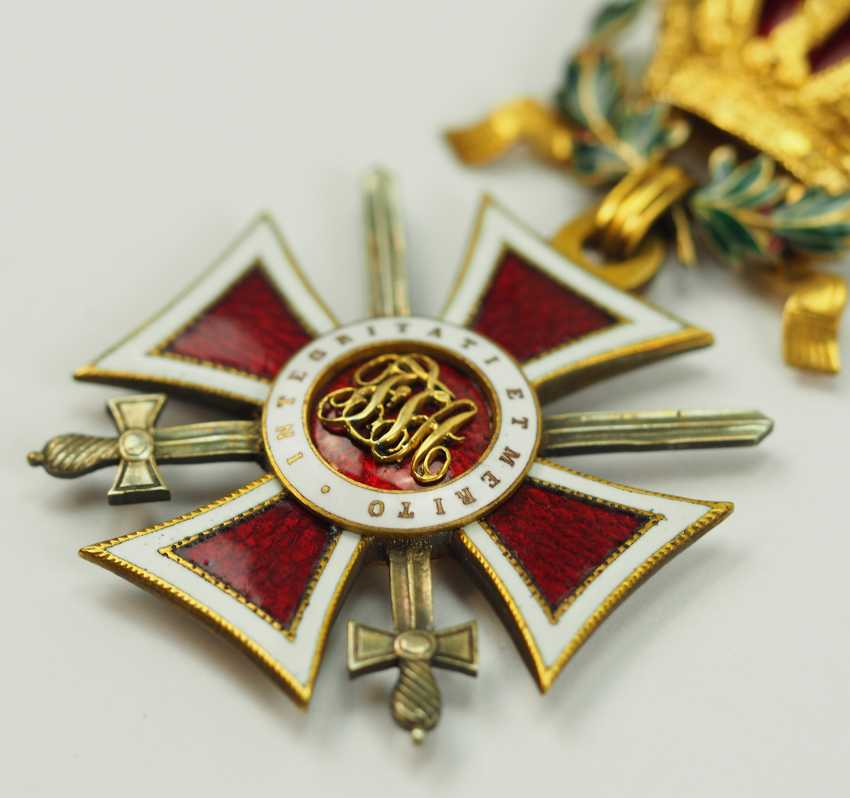 Austria: Leopold order, knight commander's cross with swords and war decoration. - photo 2