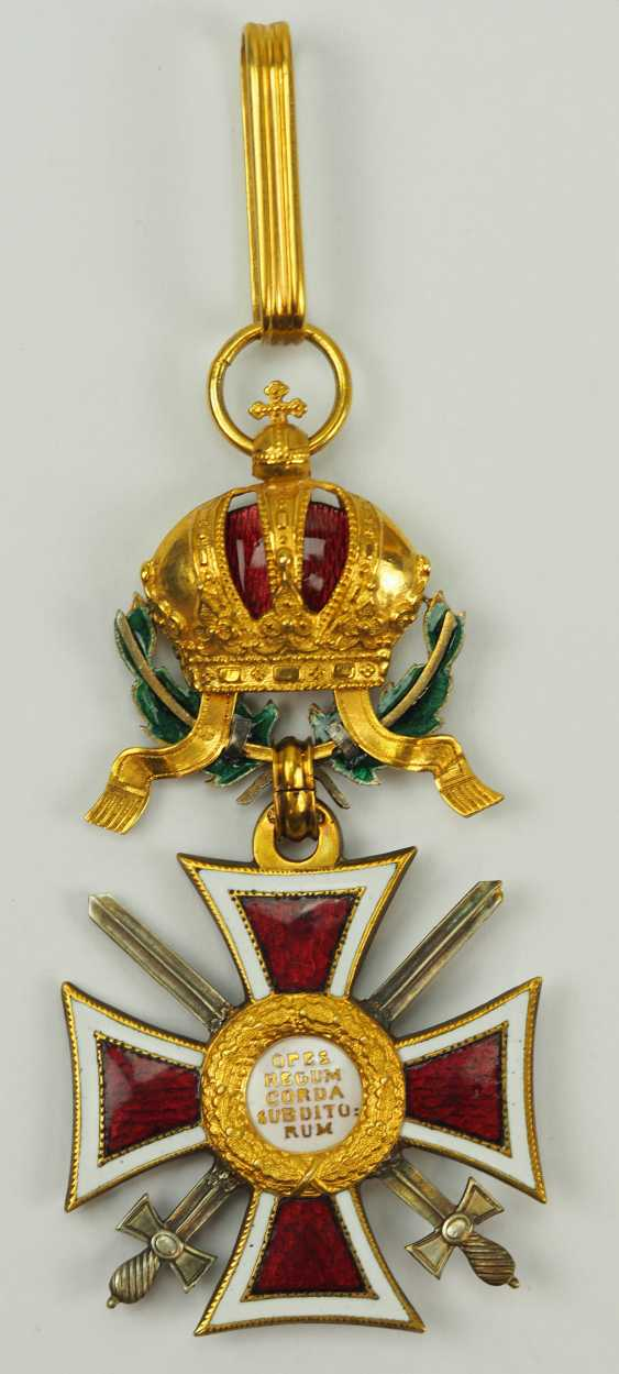 Austria: Leopold order, knight commander's cross with swords and war decoration. - photo 4
