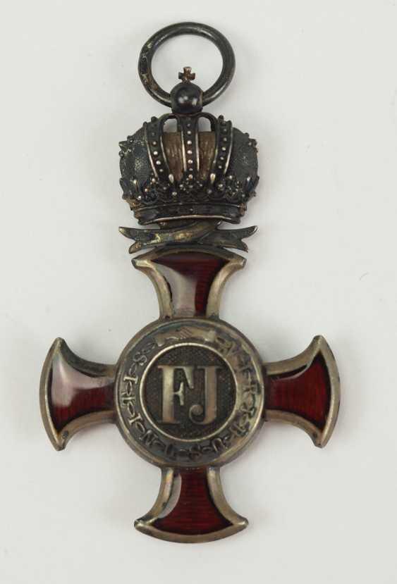 Austria: Imperial Austrian Franz-Joseph-Orden, Silver cross of merit with crown. - photo 1
