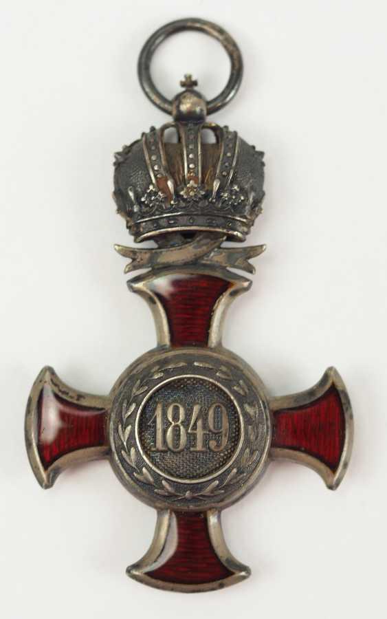 Austria: Imperial Austrian Franz-Joseph-Orden, Silver cross of merit with crown. - photo 4