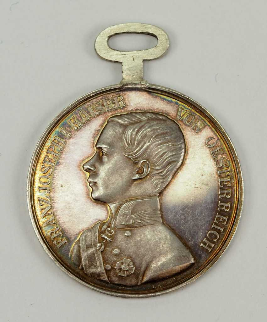 Austria: Bravery Medal, 5. Model (1849 - 1859), Franz Joseph I. Silver 1. Class. - photo 1