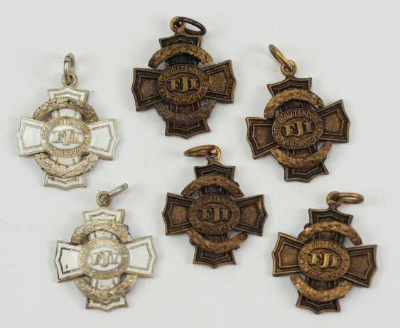 Austria: Lot of 6 war cross for civil merit of the Miniatures. - photo 1