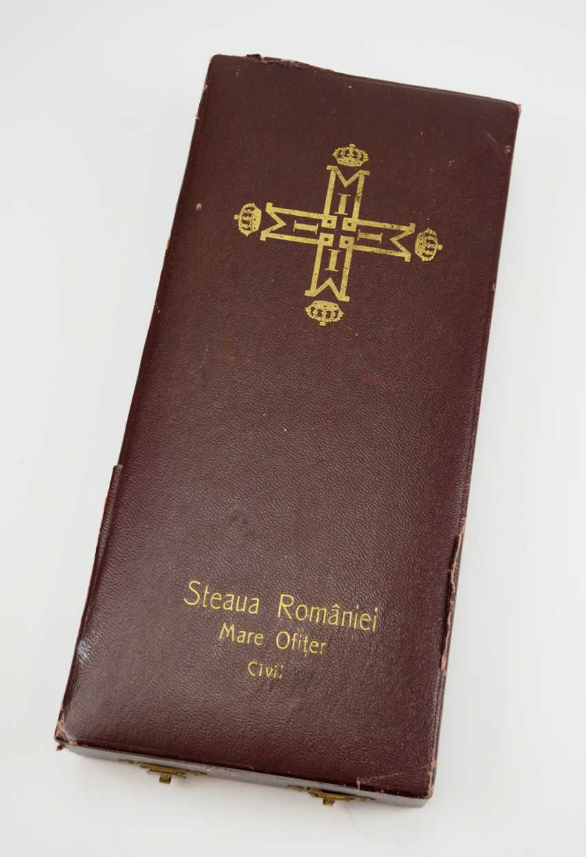 Romania: order of the star of Rumania, 2. Edition (1932-1947), Grand Officer's Case. - photo 1
