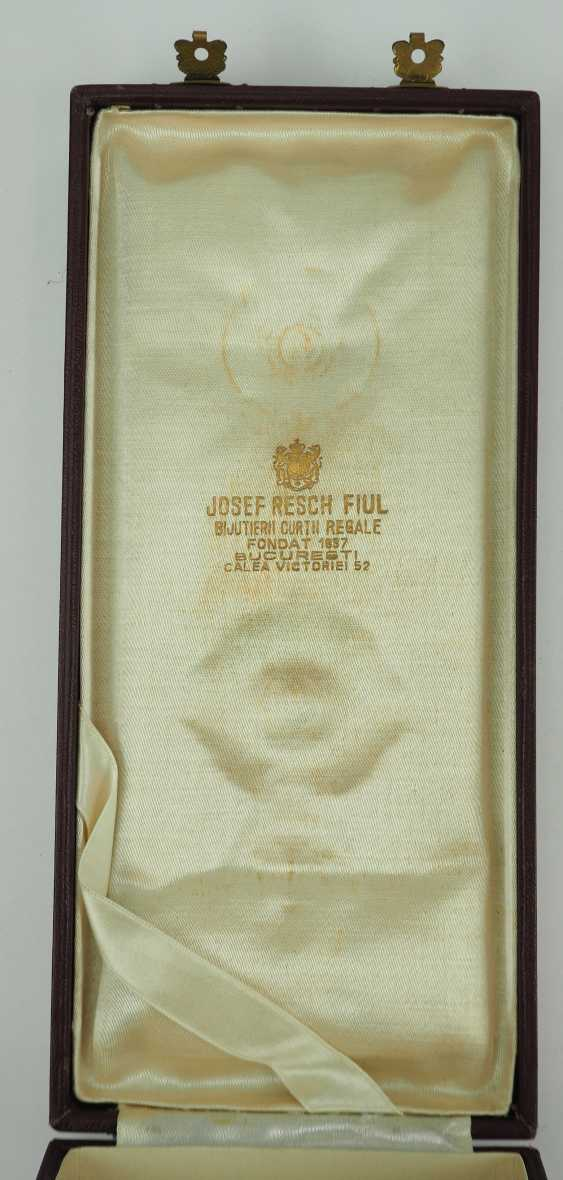 Romania: order of the star of Rumania, 2. Edition (1932-1947), Grand Officer's Case. - photo 3