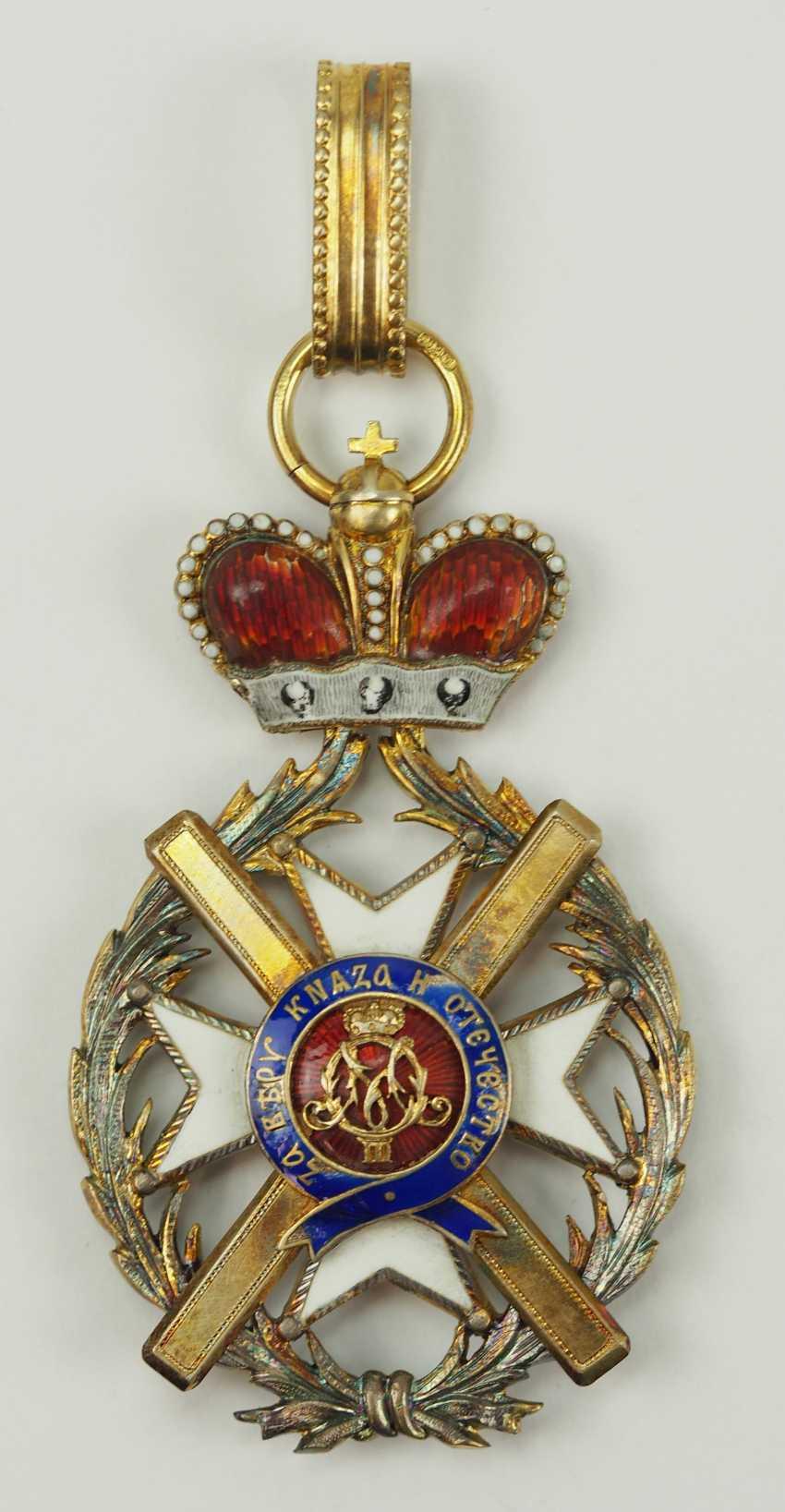Serbia: order of the cross of Takowo, 1. Model (1865-1868), Comtur Cross. - photo 1