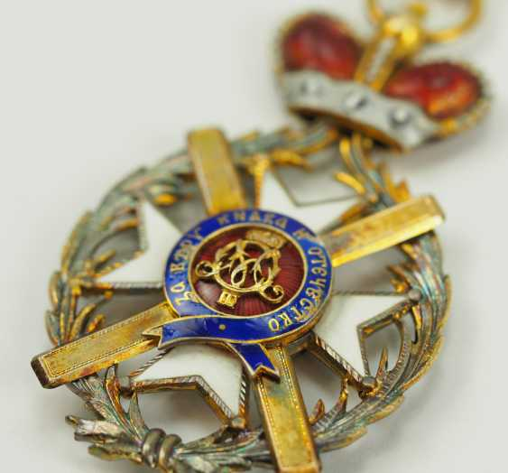 Serbia: order of the cross of Takowo, 1. Model (1865-1868), Comtur Cross. - photo 2