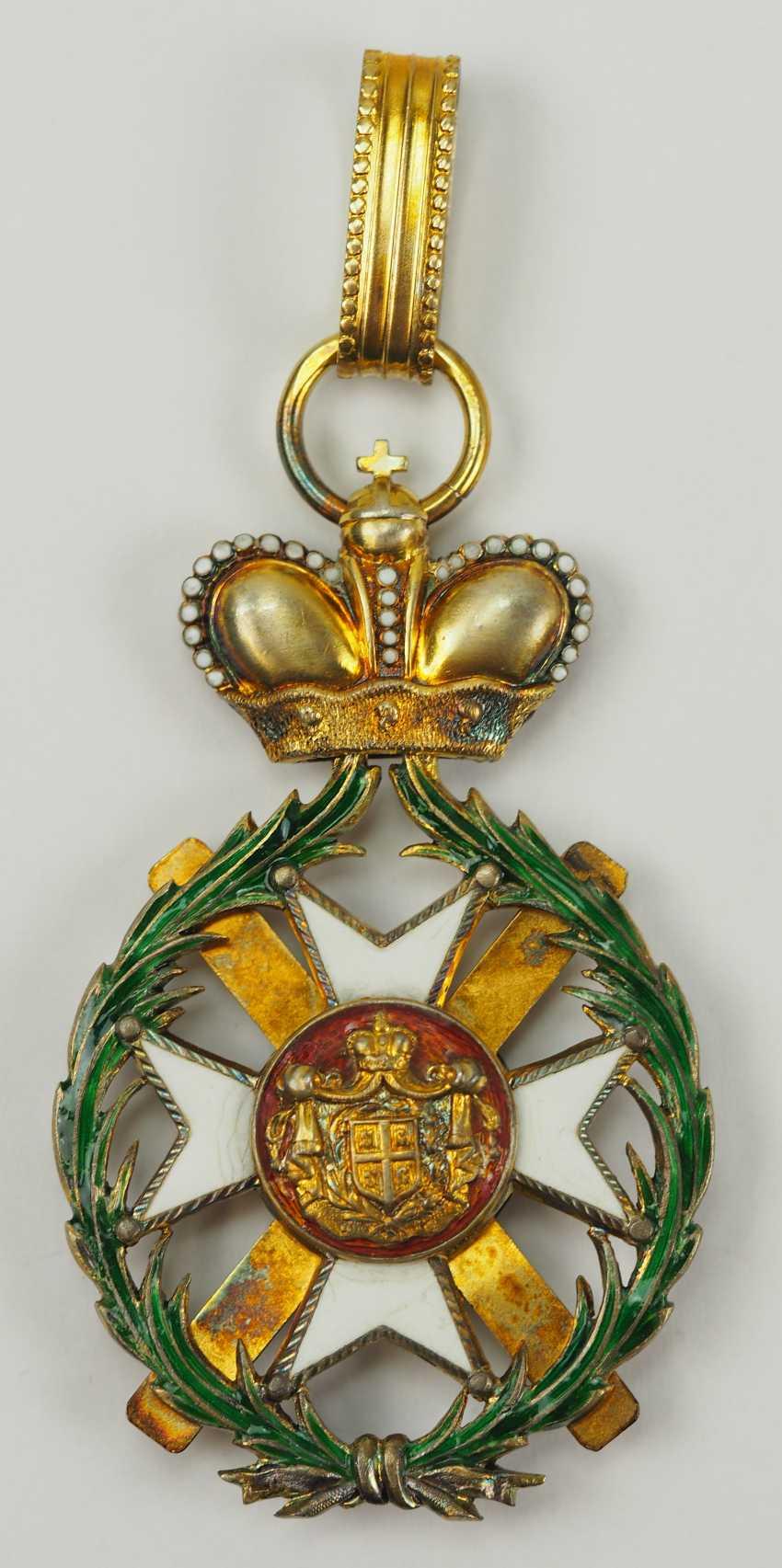 Serbia: order of the cross of Takowo, 1. Model (1865-1868), Comtur Cross. - photo 4