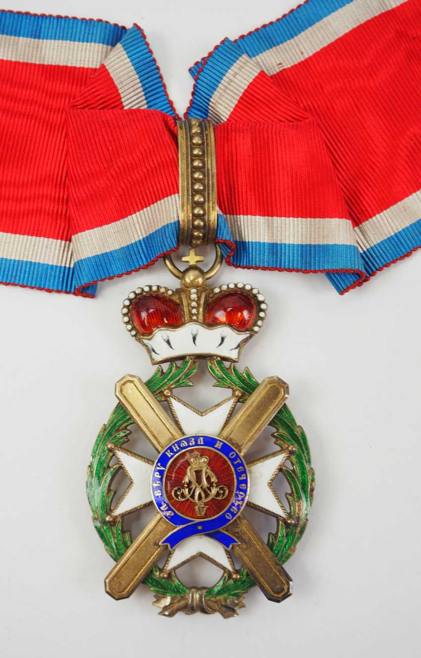 Serbia: order of the cross of Takowo, 4. Model (1878-1903), Comtur Cross. - photo 1