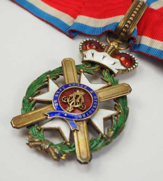 Serbia: order of the cross of Takowo, 4. Model (1878-1903), Comtur Cross. - photo 2