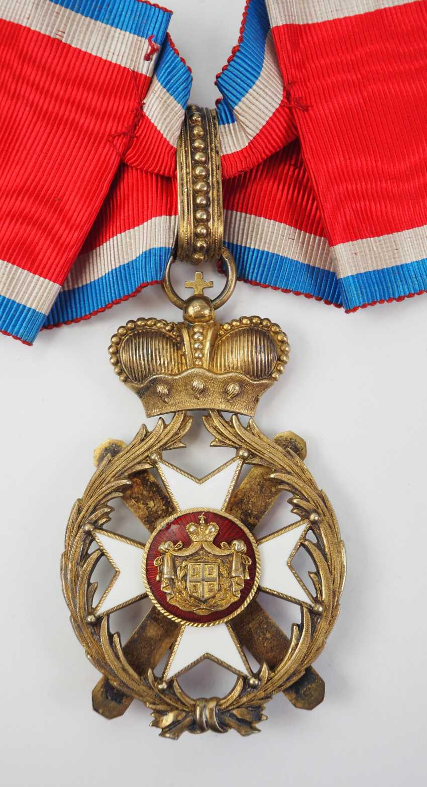 Serbia: order of the cross of Takowo, 4. Model (1878-1903), Comtur Cross. - photo 3