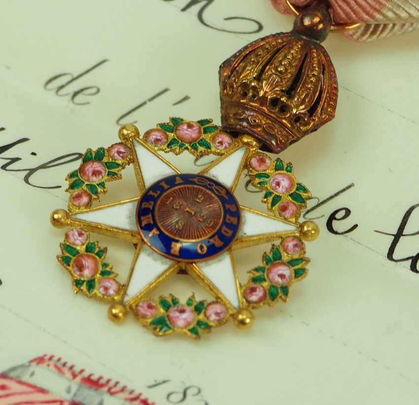 Brazil: Imperial roses-order, officers cross, in a case with certificate for the President of the Board of Directors in Paris. - photo 4