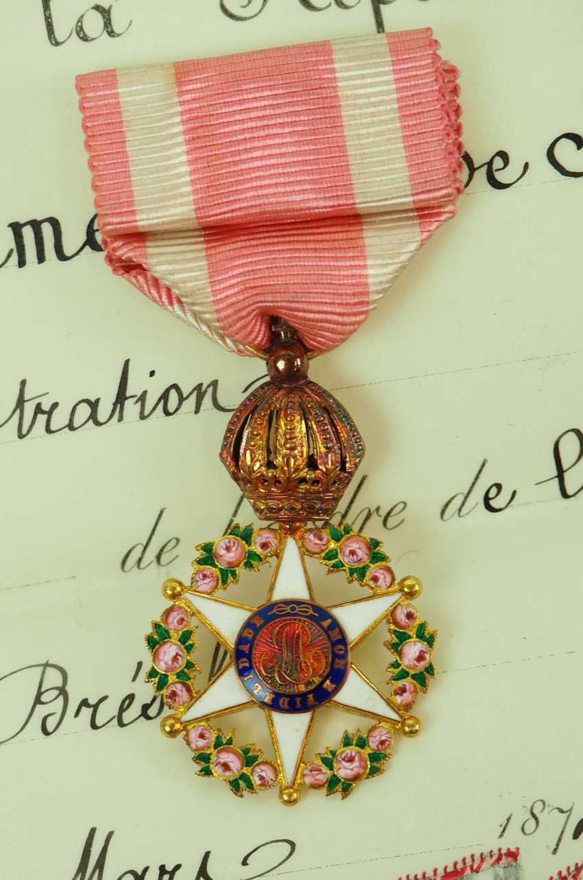 Brazil: Imperial roses-order, officers cross, in a case with certificate for the President of the Board of Directors in Paris. - photo 5