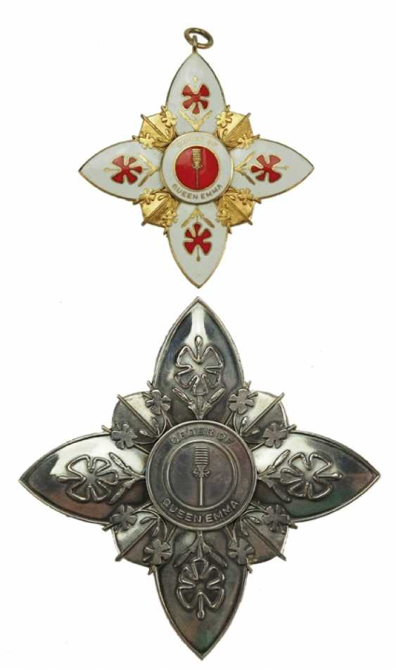 Hawaii: order of the Queen Emma, 1. Class Set. - photo 1