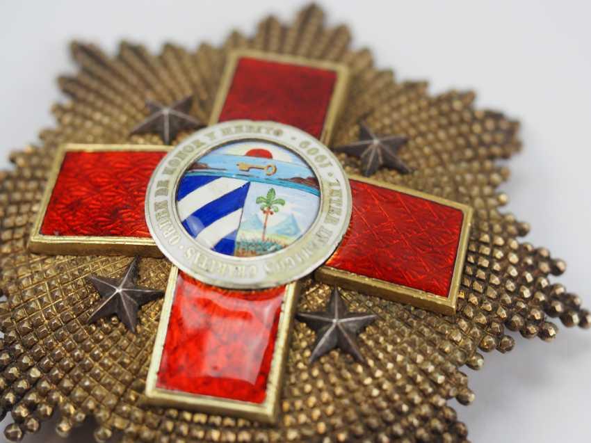 Cuba: order of honour and merit (order of the Red cross), 1. Model, Grand Cross Star. - photo 2