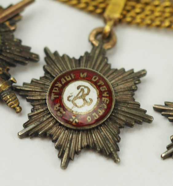 Russia: miniature chain with 5 breast stars. - photo 4