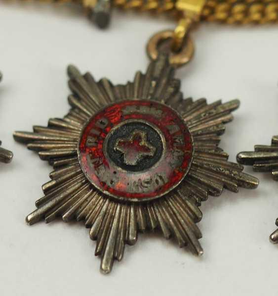 Russia: miniature chain with 5 breast stars. - photo 5