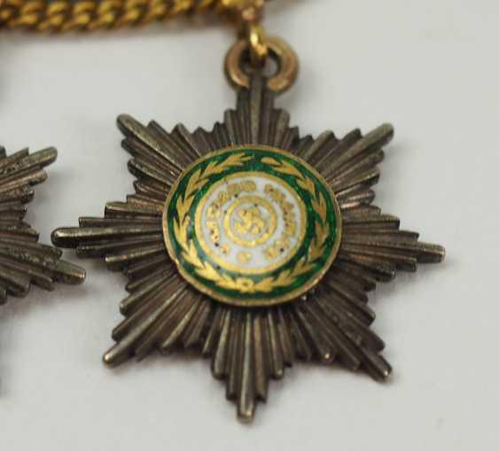 Russia: miniature chain with 5 breast stars. - photo 6