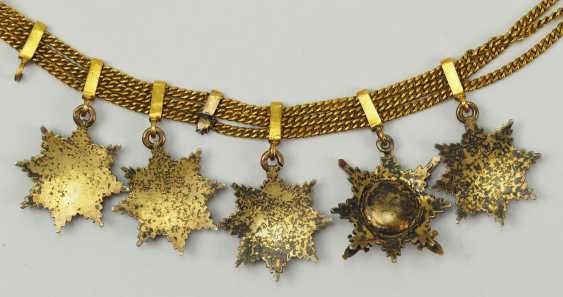 Russia: miniature chain with 5 breast stars. - photo 7