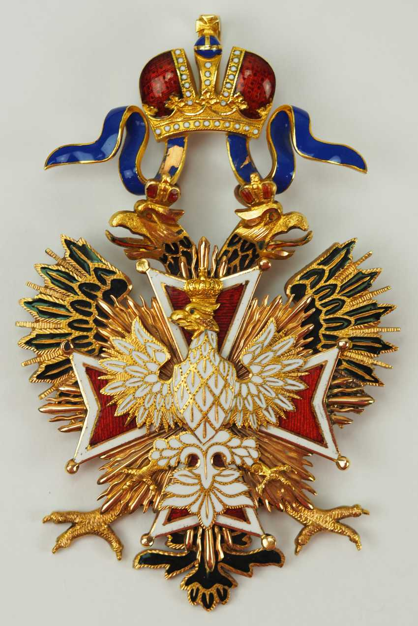 Russia: Imperial and Royal order of the White eagle, gem. - photo 1